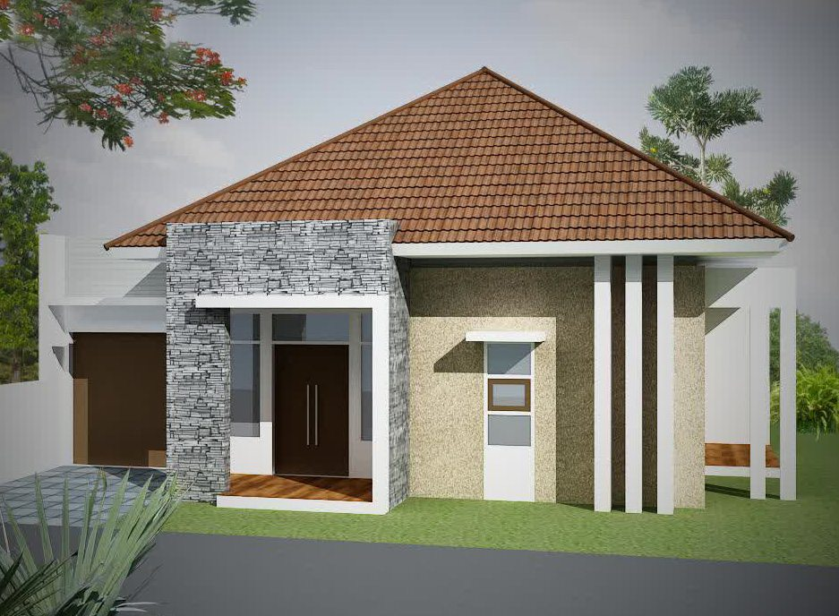 Bermain Warna Tampilan Depan Desain Rumah Sederhana Desain Gambar Foto Tipe Rumah Minimalis