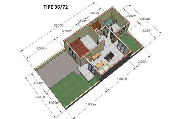 107+ Desain Taman Teras Rumah Minimalis Type 36 Gratis